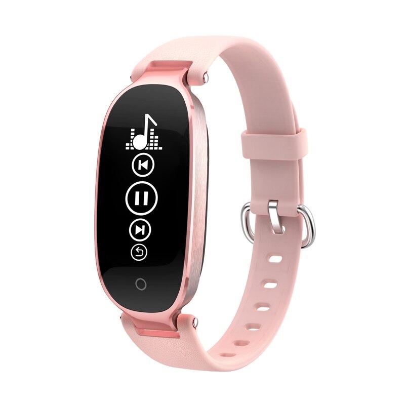 S3 mujer reloj de pulsera de moda con Monitor de ritmo cardíaco deporte rastreador de actividad reloj inteligente APP conectar IOS Android Iphone