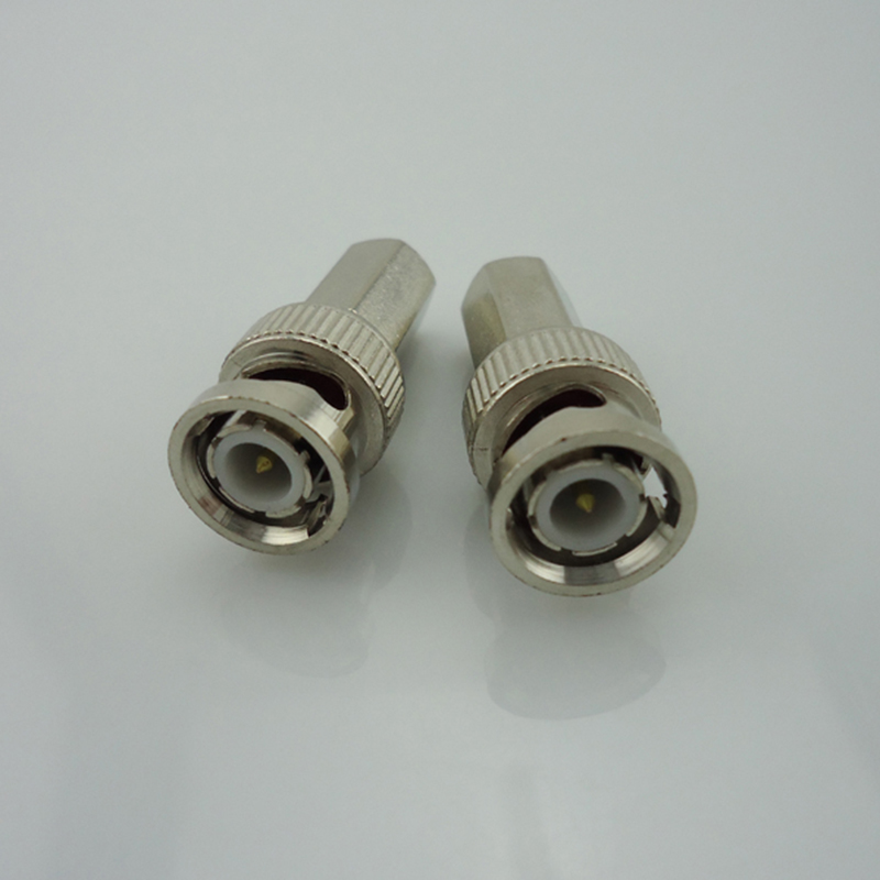 100Pcs BNC Male Connector For Twist-On Coaxial RG59 Cable CCTV Accessories