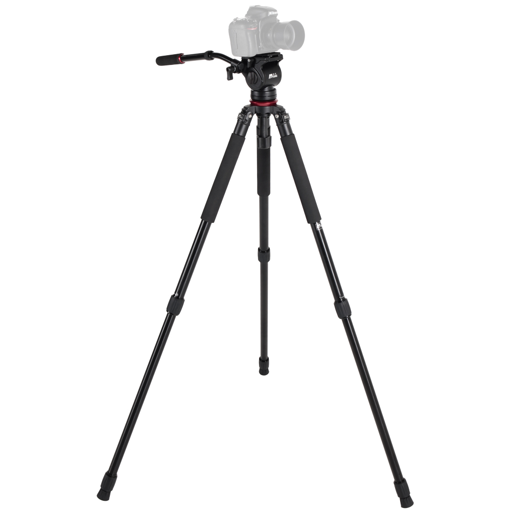 JIEYANG JY0509A Aluminum alloy Hydraulic Video Tripod with 65mm Bowl Tripod Head Birding Tripod for Canon Nikon Sony Cameras брюки motivi motivi mo042ewtsu27