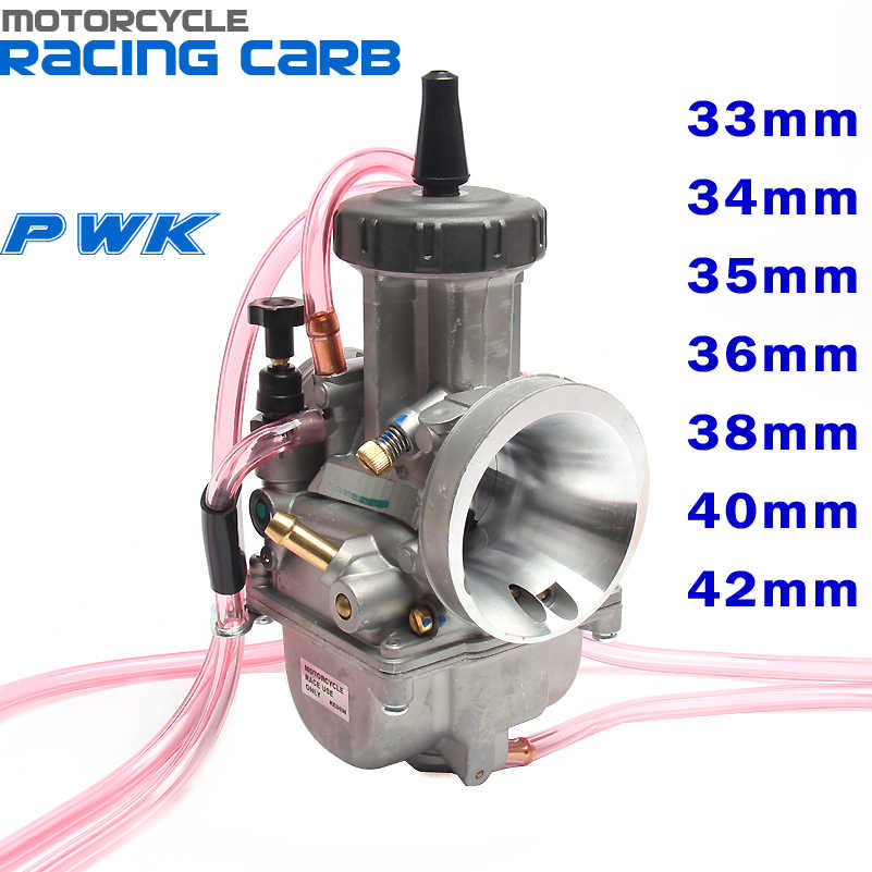 Carburateur PWK 33 34 35 36 38 40 42mm carburateur de course universel 2T 4T moteur saleté vélo Motocross moto Scooter ATV Quad