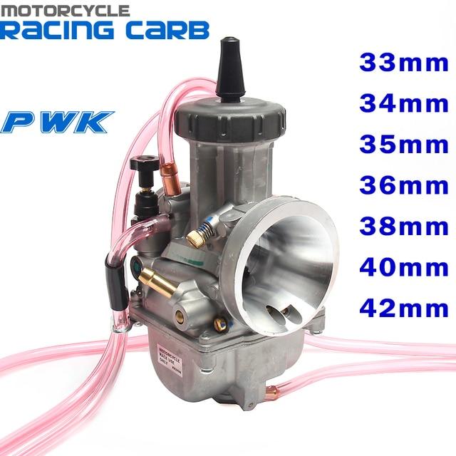 Carburador PWK para motocicleta, carburador de carreras Universal, de 33, 34, 35, 36, 38, 40, 42mm, 2T, 4T, ATV, Quad