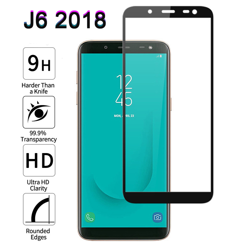 Protective Glass For Samsung Galaxy J6 J 6 2018 A50 40 Full Cover Screen Protector For Samsung J6 Plus 2018 J600F Tempered Glass