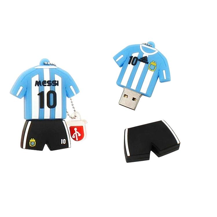Barcelona Soccer Jersey Usb Flash Drive 4gb 8gb 16gb 32gb 64gb 128gb Pen Drive Usb2.0 Flash Disk High Speed Pendrive Memoria Usb 3