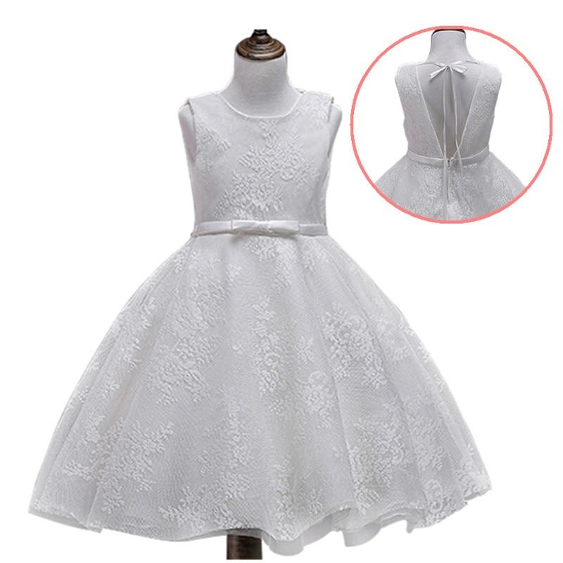 где купить 2018 Summer Baby Girls Sleeveless Stripe Casual Style Dress For Girl 3 4 5 6 7 8 9 10 11 12 Years Birthday Princess Party Dress по лучшей цене