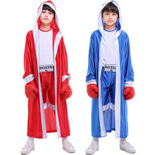 Umorden Red Blue Kids Child Deluxe Boxer Costume for Boys Boy Boxing Cosplay Halloween Party Carnival Costumes