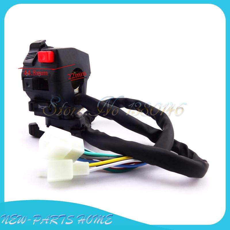 12 Wire Chinese Atv Handle Switch Choke Lever Assembly 110cc 125cc 150cc 200cc 250cc
