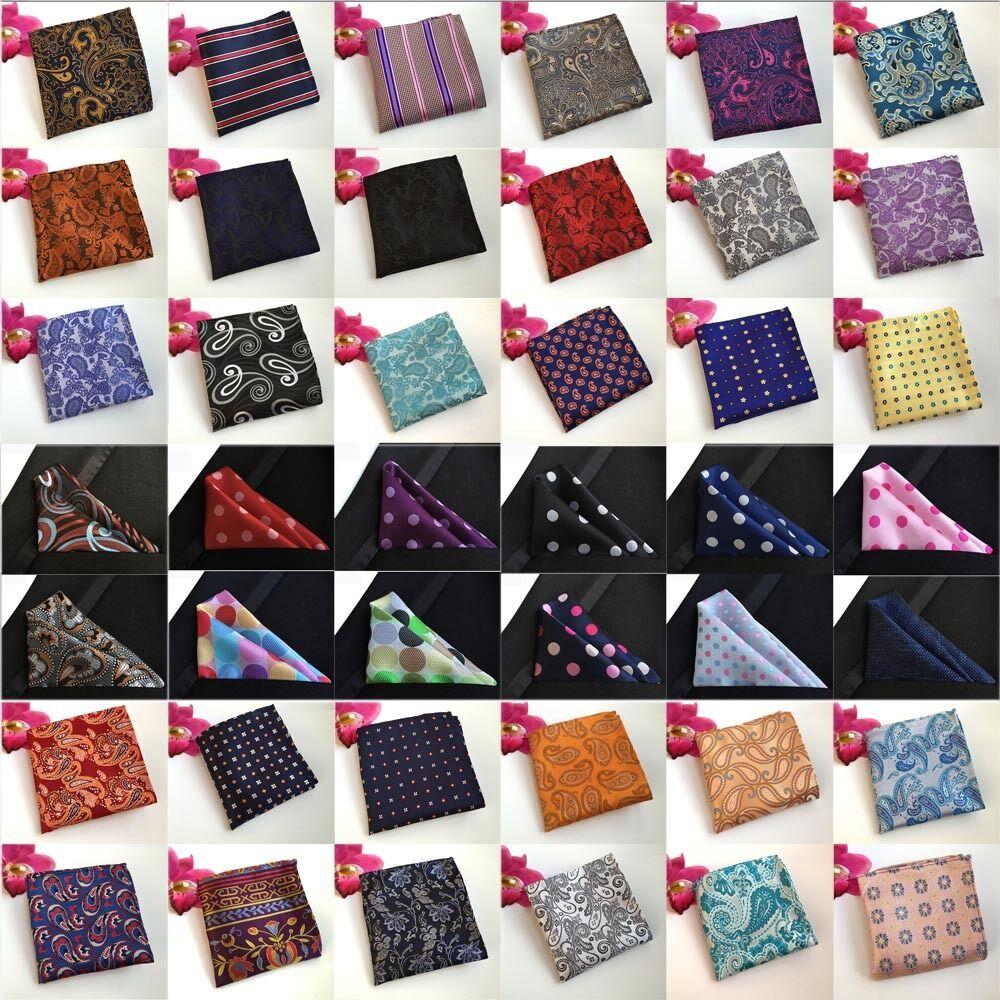 Men Paisley Floral Polka Dots Hanky Pocket Square Wedding Handkerchiefs HZTIE0210