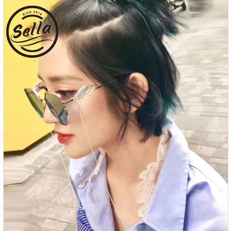 621317dc99fb Sella New Arrival Cat Eye Tint Lens Sunglasses Wings On Legs Angel's Wing  Trending Eyewear Brand Designer Chains Decoration-in Sunglasses from  Apparel ...