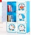 Crianças grade prateleira estante com a porta combinação livre simples prateleira do armário