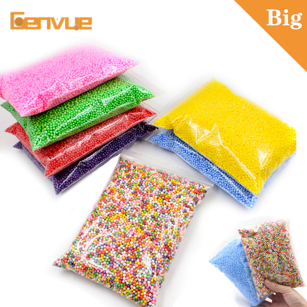 New Fluffy Foam Balls Beads Slime Supplies Charms Addition Filler For Slime Decoration Accessories Mud Particles Antistress Toys