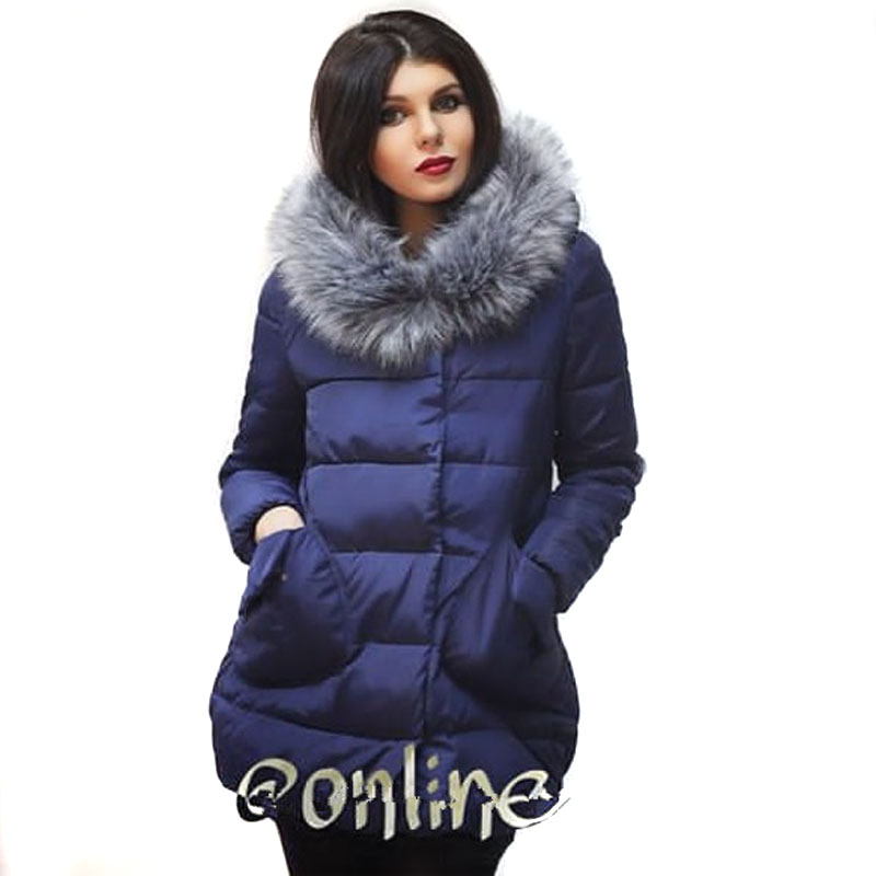 016 New Winter Women Down Coat Jacket Medium Length Woman Down Parka with a Rabbit Fur Winter Coat Women 2 Collection