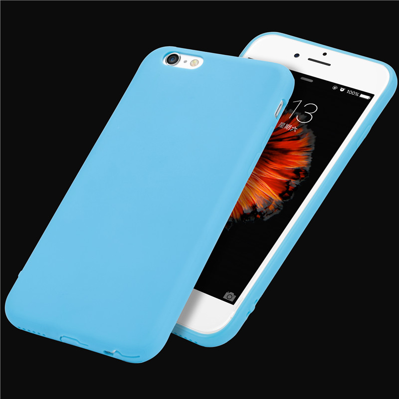 official photos d0832 66244 US $1.75 |High quality exquisite protective shell with Strap hole Cute  Candy color Soft TPU Phone Cases for iPhone 6Plus 6S Plus 5.5 inch-in  Fitted ...