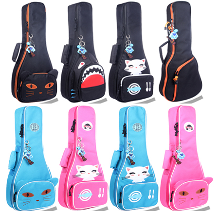Portable 23 24 Concert Ukulele Bag Small Guitar Backpack Waterproof Soft Gig Padded Case Soft Gig Cover Girl Boy Kids Cute Gift