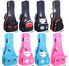 Portable 23 24 concert ukulele bag small guitar backpack waterproof soft gig padded case soft gig cover girl boy kids cute gift(China)