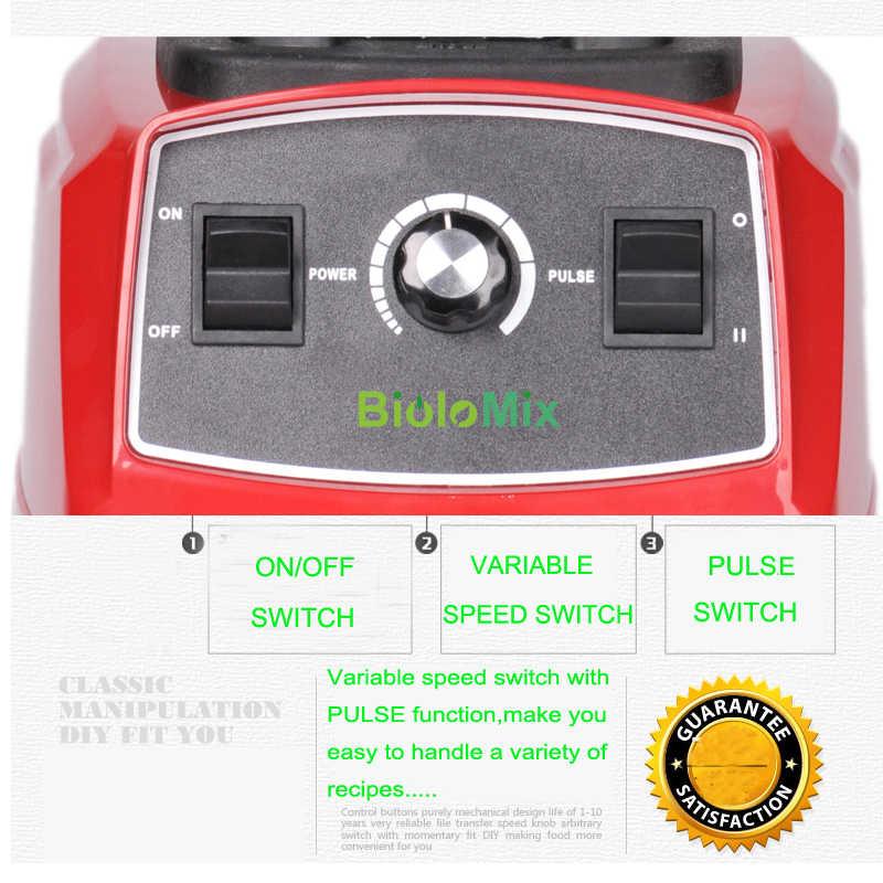 BPA libre 3HP 2200W de alta resistencia mezcladora de grado comercial mezcladora exprimidor de alta potencia procesador de alimentos batidos de hielo Bar batidora de frutas