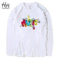HanHent 3D MUSIC T Shirts O Neck Long Sleeve Swag Hip Hop Punk Rock Fashion Streetwear