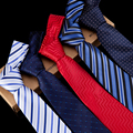 Dos Homens da VENDA do Negócio & Casamento Listrado Dos Homens do Laço 8 CM de Largura Corbata Red Dot Gravata Do Noivo Gravata Masculina Caixa de Presente Barato atacado