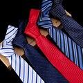 LA VENTA de Los Hombres de Negocios y La Boda del Lazo de Los Hombres 8 CM de Ancho A Rayas Caja de Regalo Masculina Del Novio Corbata Gravata Corbata de Punto Rojo Barato venta al por mayor