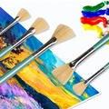 Синяя щетинистая веерообразная Ручка Кисть для гуаши набор акварельных красок акриловая краска Доска Кисти для живописи маслом товары для ...