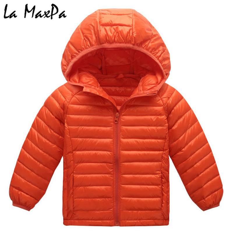 купить Children jacket Outerwear Boy and Girl autumn Warm Down Hooded Coat teenage parka kids winter jacket 4-8 years Dropshipping по цене 1202.2 рублей
