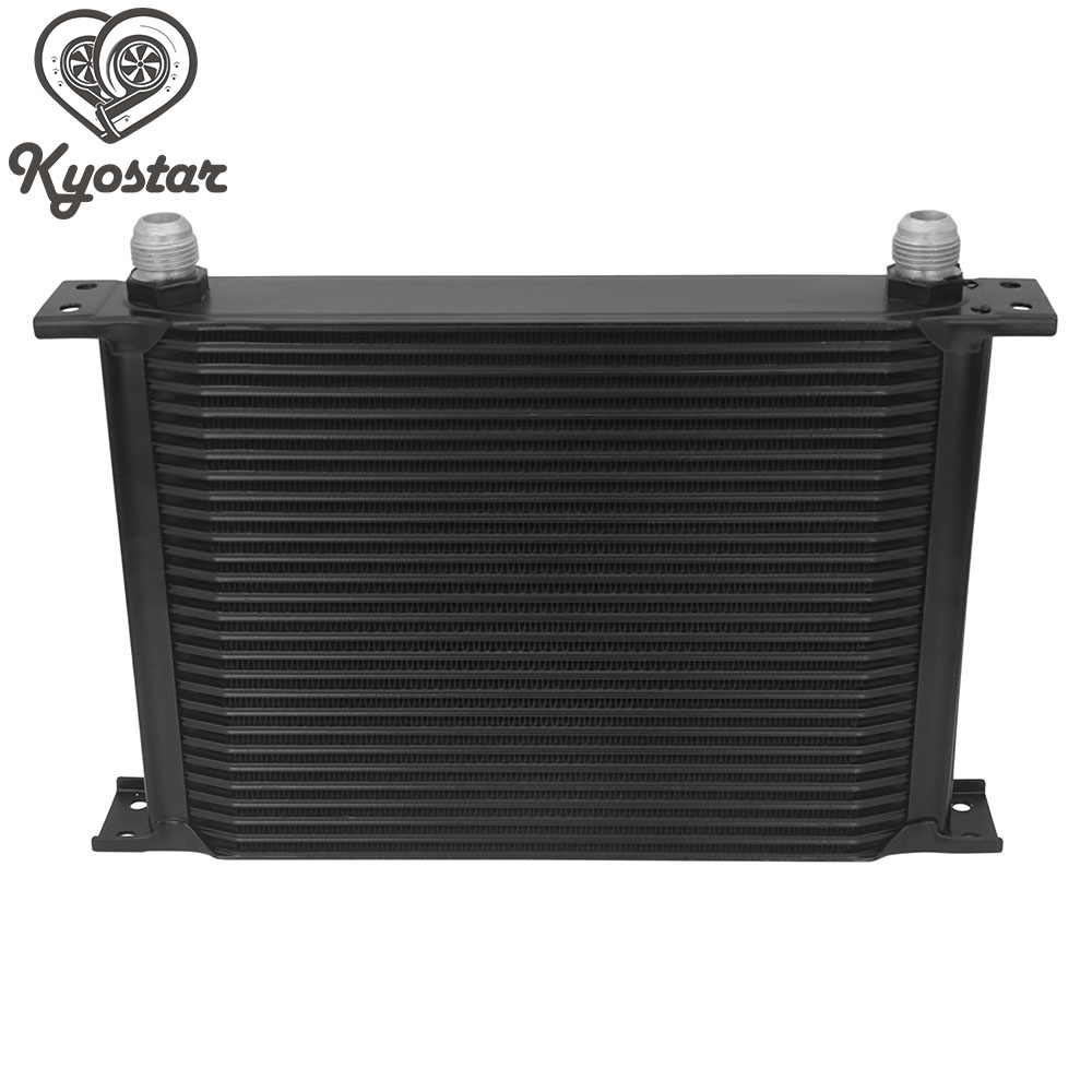 цена на British Type 28 Row Aluminum Oil Cooler Radiator 10 AN Universal Engine Silver Black Oil Cooler Transmission