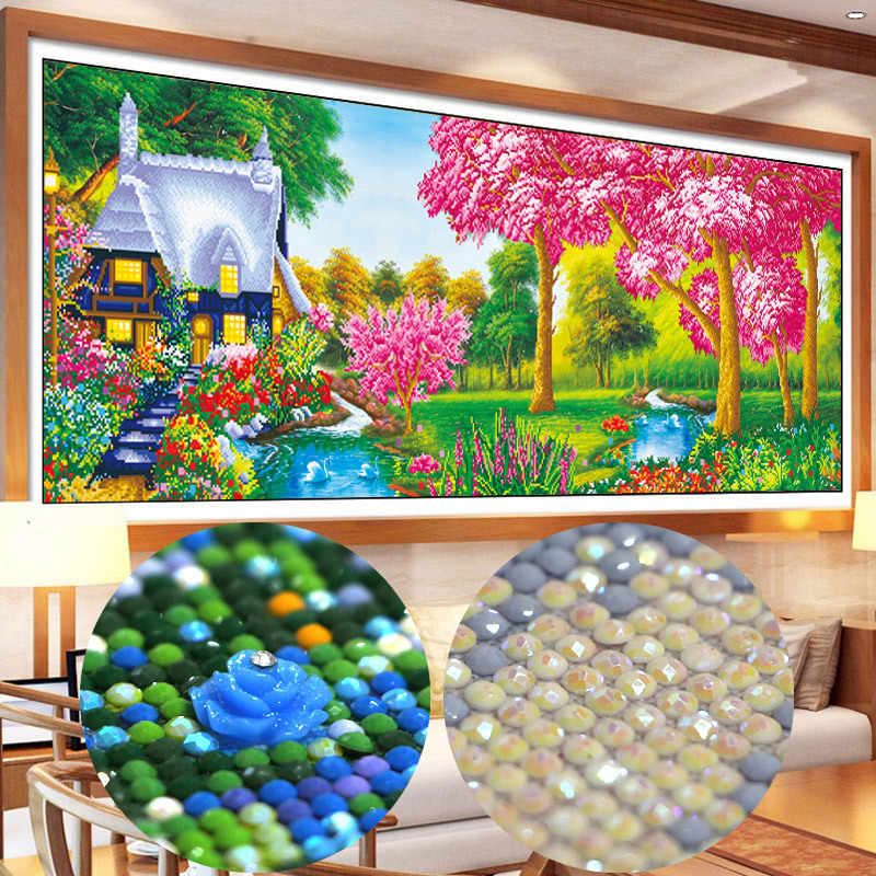 special shaped drill Diy Diamond Painting Cross Stitch Household Decoration Diamond Mosaic Embroidery Paintings landscape spring