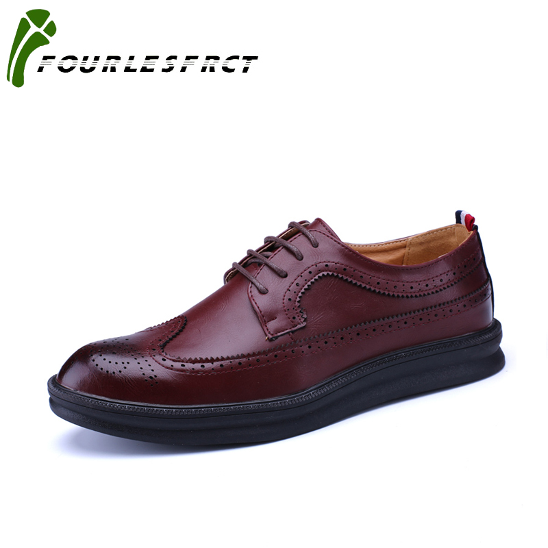 2017 New Arrival  Vintage Leather Men's Shoes Business Formal Brogue Pointed Toe Carved Wedding Dress Shoes fashion men shoes vintage leather mens shoes fashion brogue pointed toe carved oxfords shoes men casual dress shoes 2017 new arrival black grey