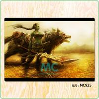 WOW Orc Hunter 3D HD Game Fabric Painting Core Scrolls Poster Home Decor Banners Hanging