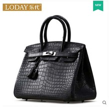 ledai Ladies' fashion bag lady 2017 new tide women handbag bag real estuarine crocodile leather women handbag