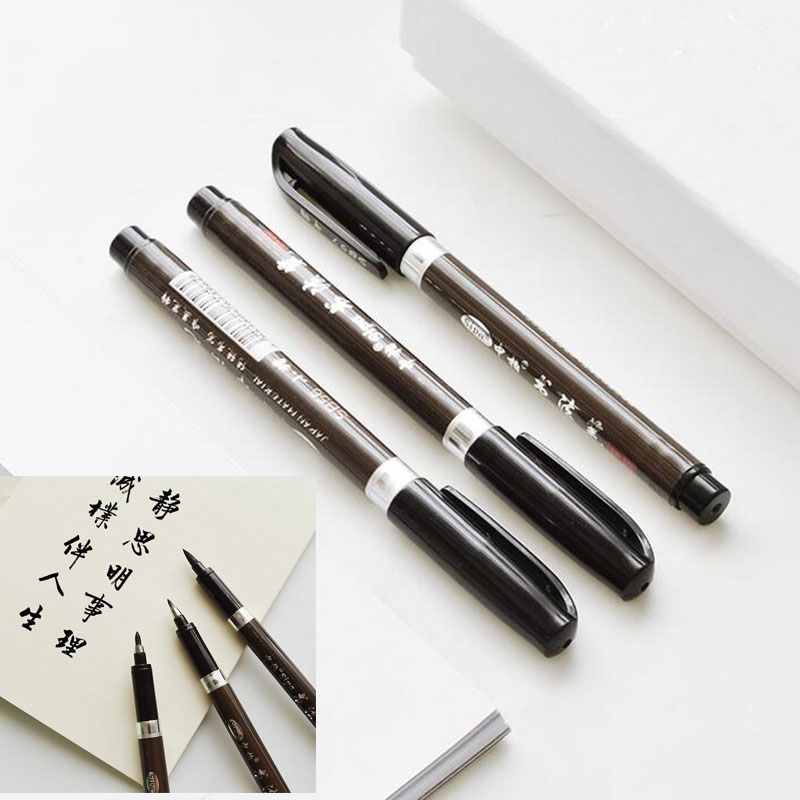 3 Pieces / Set Of High Quality Chinese Calligraphy Brush Office Art Marker Pen Creative Writing Supplies