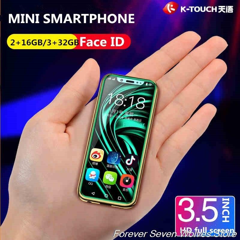 Coque gratuite 3 GB Ram 32 GB Rom Android 8.1 2 GB Ram 16 GB Rom Mini 4G SmartPhone K-TOUCH I9 Face ID Telefone téléphone portable double SIM - 2