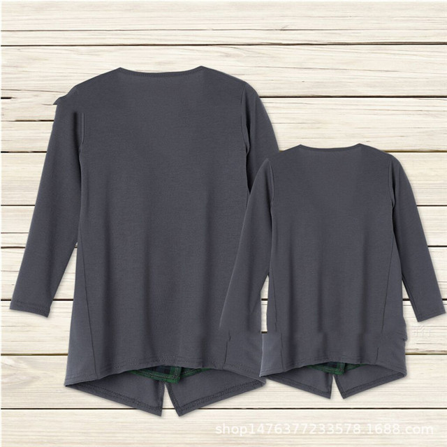 2019 Autumn Long Sleeve Family Matching Outfits mommy and me clothes Mother Daughter Cardigan Sweater Outwear Jacket H0461 5