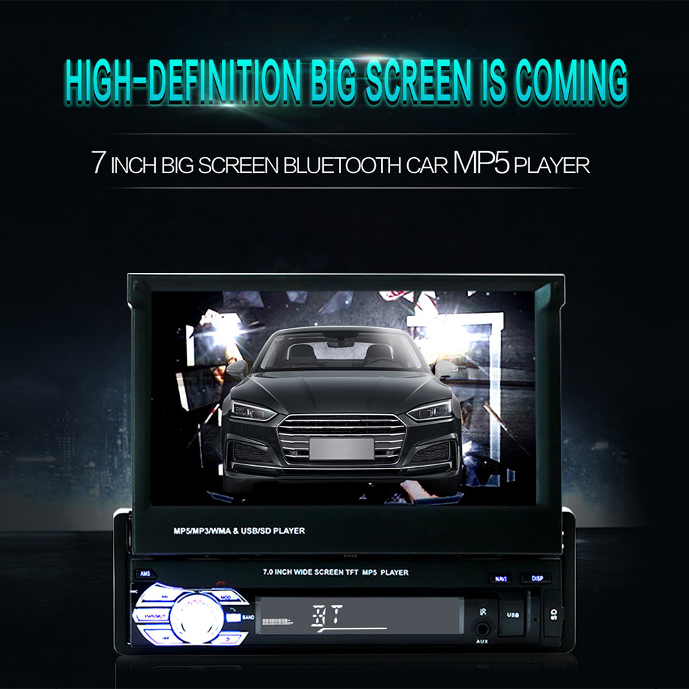 """Image 2 - 9601 7"""" HD Touch Screen Universal Car Bluetooth MP4 MP5 Player Navigation FM Radio U Disk/AUX/SD Card Playback Rearview Mirror-in Car MP4 & MP5 Players from Automobiles & Motorcycles"""