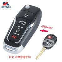 KEYECU Replacement Upgraded Flip Remote Car Key Fob 314MHz G for 2014 2015 2016 Scion tC iQ / Toyota Yaris FCC ID: MOZB52TH