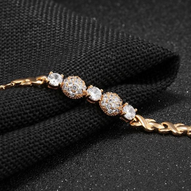 Купить модные аксессуары золотистый браслет из титановой стали женский
