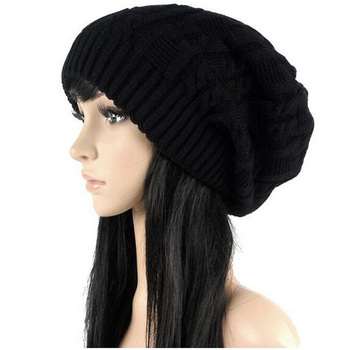 Sell Like Hot Cakes Fashion Caps Warm Autumn Winter Knitted Hats For Women Stripes Double deck