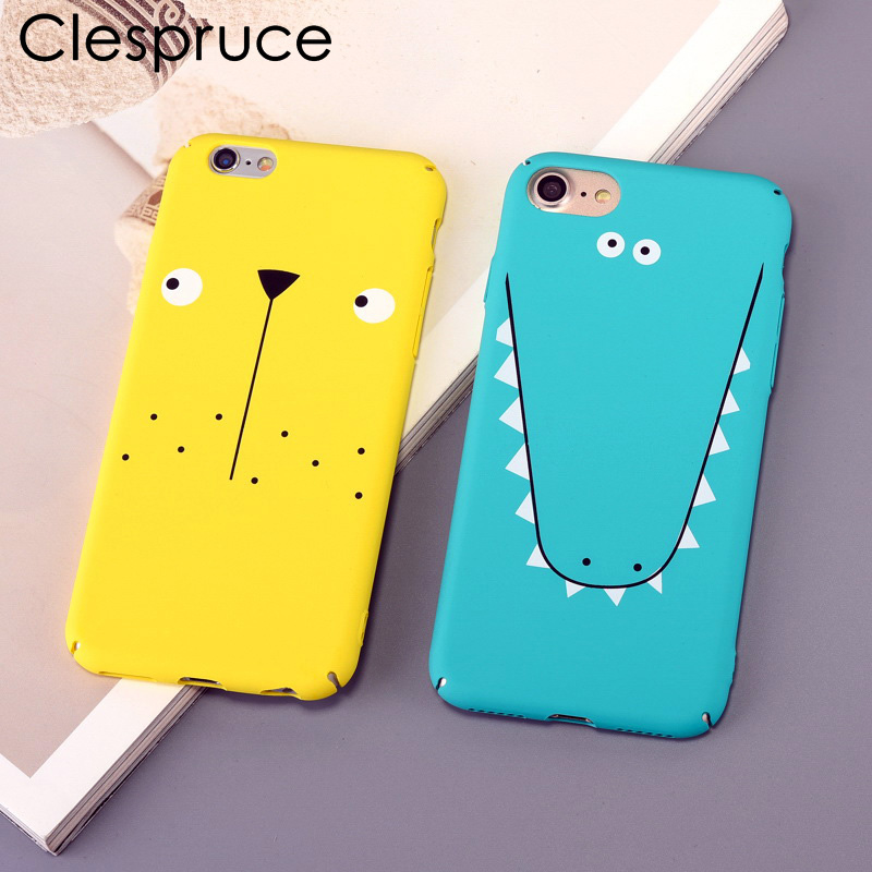 Clespruce Hard Phone Case For iPhone 8 8plus Simple Funny Face Stunned Expression Cute Case for iPhone 6 6s 7 Plus Couples Capas