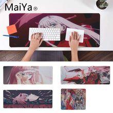 Maiya darling in the franxx прочный резиновый коврик для мыши Коврик для игровой мыши xxl настольный ноутбук коврик для мыши геймер для dota2 lol