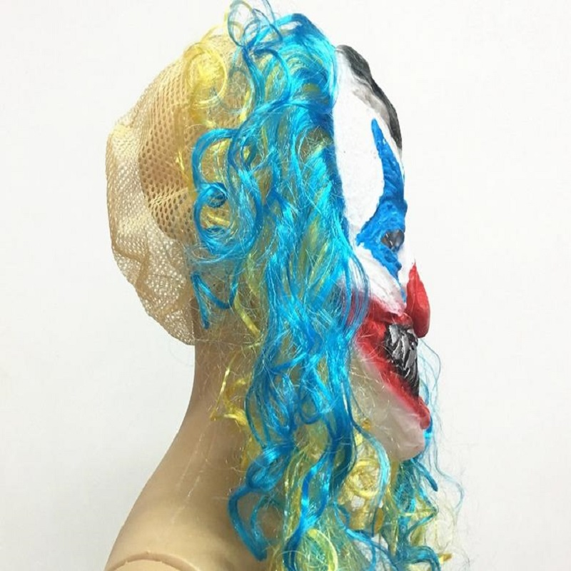 US $5 32 27% OFF|Halloween Mask Ghost Festival Funny Clown Ghost Scarched  Scary Fantastic Dance Bar KTV Decoration Full Face Party Mask Cosplay-in