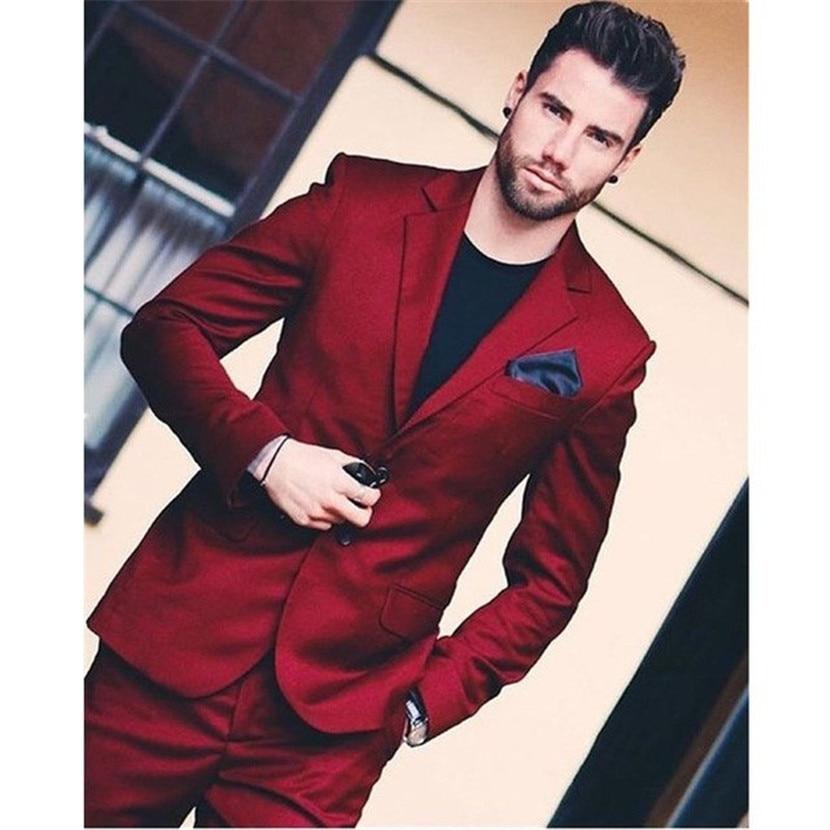 Men's Suit Two-piece Suit (jacket + Pants) Men's Classic Solid Color Fashion Suit Wedding Groom Groomsmen Dress Custom