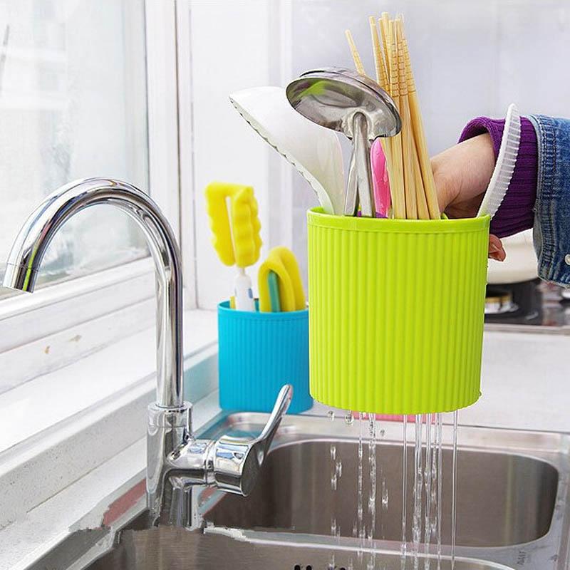 Caja de Almacenamiento de Vajilla Cuchillo Tenedor Cuchara de cocina de Drenaje