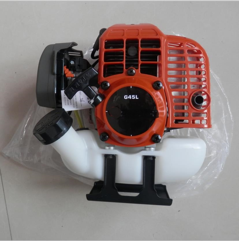 G45L бензиновый двигатель 2T 25:1 двигатель для 41CC ~ 43CC бензиновая машинка для стрижки  измельчитель  распылитель  шнек  культиватор title=