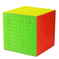 Zhisheng Yuxin Huanglong 9Layers Cube Stickerless Black 9x9x9 Cube Puzzle 9 Layers Toys For Children Kids