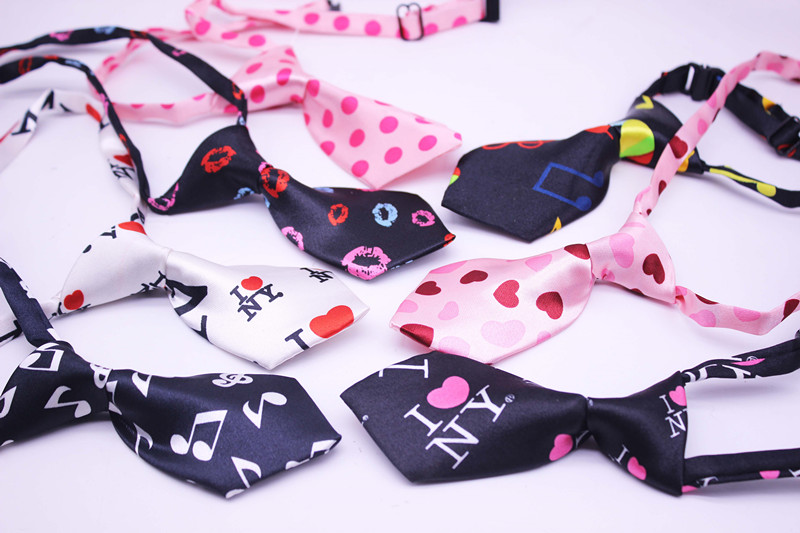 50pcslot valentines day pet dog bow ties mix 7 colors adjustable pet dog bow ties cat neck ties dog grooming supplies in dog accessories from home