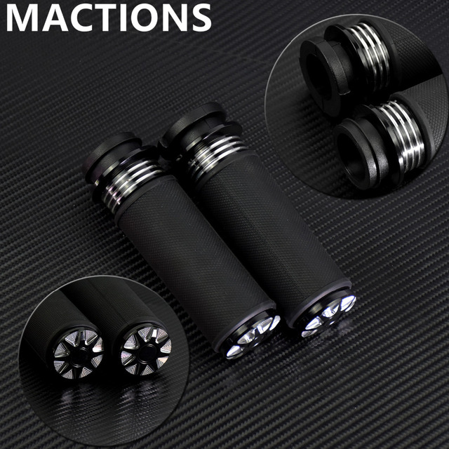 """Motorcycle Accessories 1"""" Electric Burst Handlebar Hand Grips Black For Harley Touring Dyna Softail Custom For Honda For Yamaha"""