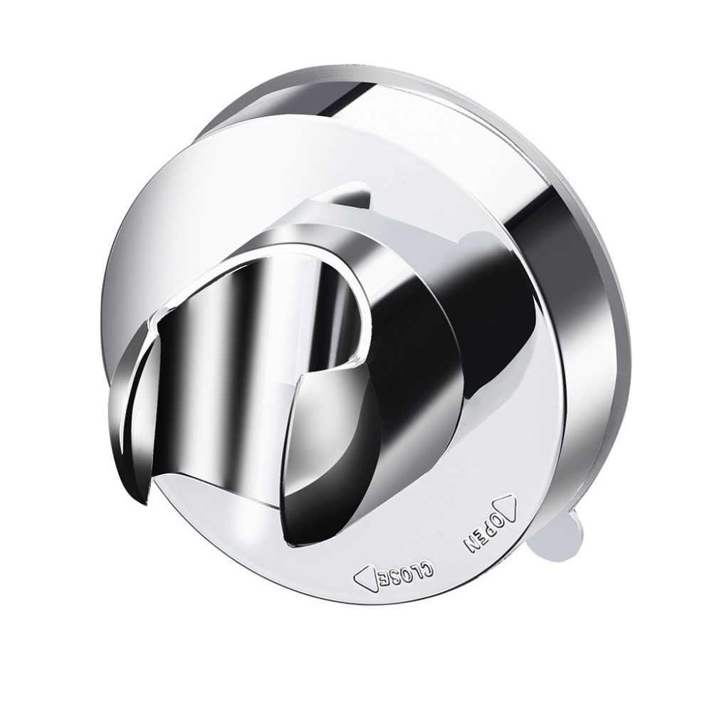2 個吸引カップシャワーヘッドウォールマウントホルダーハンドヘルドシャワースプレーブラケット浴室付属品棚サポートデ潅水 Q4