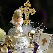 Cross Cake Topper religious Wedding Baptism Christening First Communion birthday Confirmation Retirement Marriage decoration