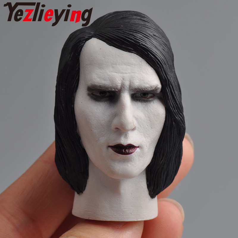 1/6 male head engraving HP-0063B Marilyn Manson male exquisite male head carving model toy 12 action figure