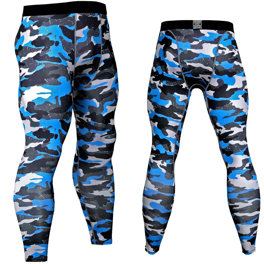 Quick dry Camouflage Compression Pants Men Active Baselayer Leggings Tights MMA Exercise Skinny Pants
