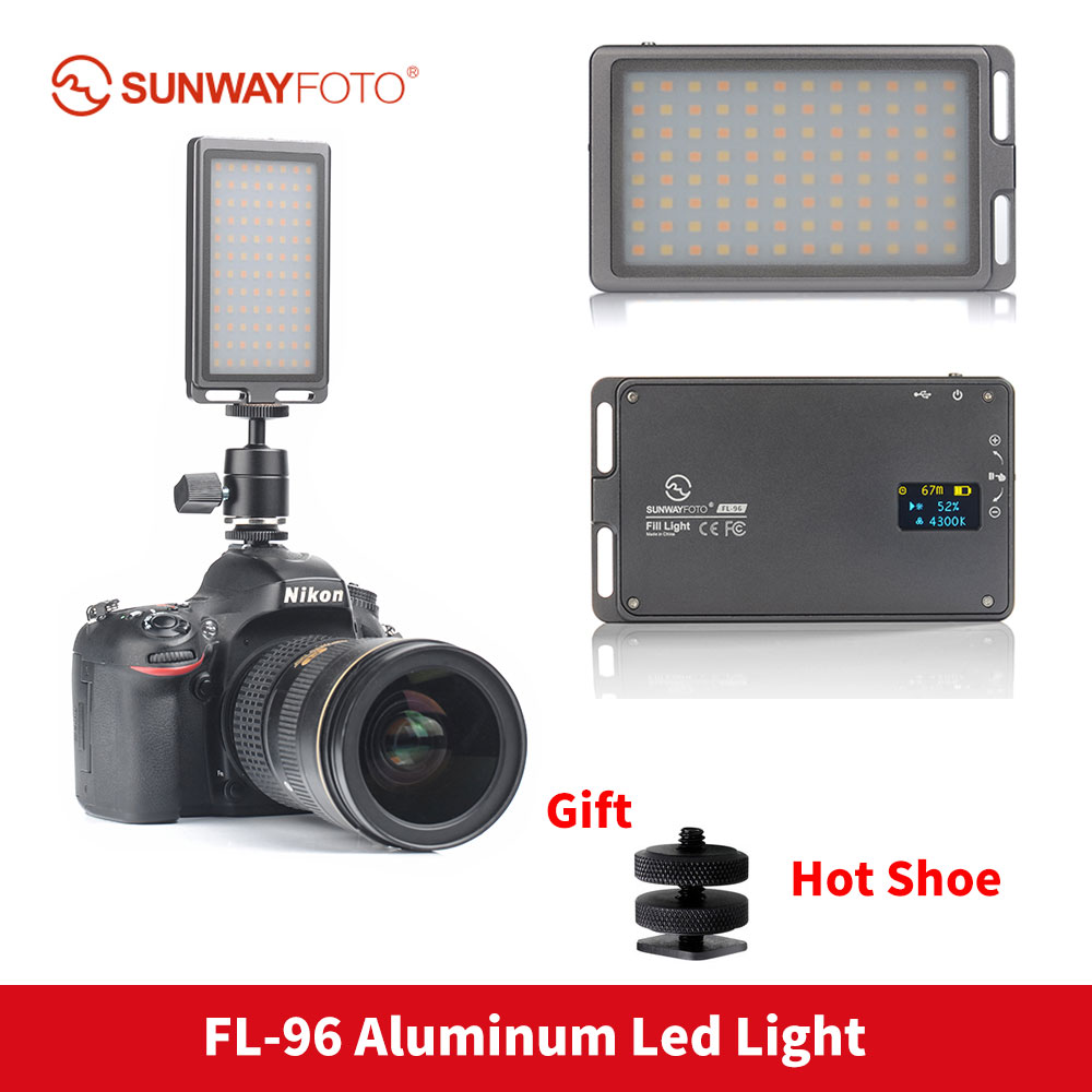 SUNWAYFOTO FL 96 LED light Bi Color Fill Light 96 bulbs Aluminum Alloy Body for studio